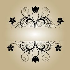 Free Vintage Flower Banner Royalty Free Stock Photography - 35000347