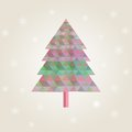 Free Сhristmas Tree With Colorful Triangle Diamonds Stock Images - 35011394
