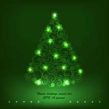 Free Winter Holidays Decoration Tree. Royalty Free Stock Photography - 35011127