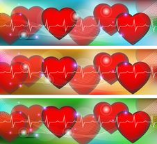 Free Colorful Hearts Royalty Free Stock Image - 35015116