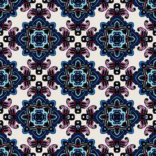 Seamless Mosaic Pattern  Tiles Royalty Free Stock Photos
