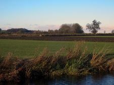 Free Hay Bales Landscape Stock Photos - 35016593