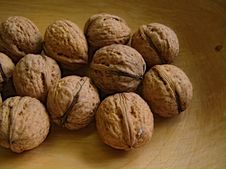 Free Walnut For Christmas Stock Image - 35016761