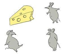 Free Mice And Cheese. Stock Photos - 35018553