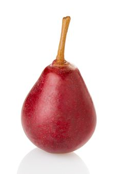 Free Red Pear Royalty Free Stock Photos - 35019158