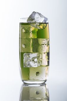 Free Green Glass And Ice Stock Photography - 35019282
