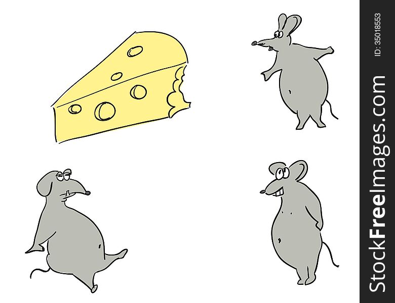 Mice and cheese.