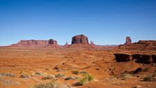 Free Monument Valley On A Spring Day Royalty Free Stock Photography - 35022967