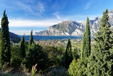 Lake Garda Panorama Royalty Free Stock Photo