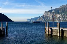 Free Torbole Harbour Entrance Royalty Free Stock Image - 35026276