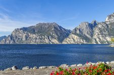Lake View Torbole Royalty Free Stock Photography