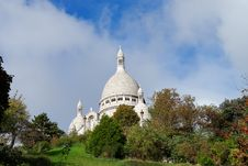 Sacre Coeur Cathedral Views Royalty Free Stock Images