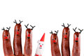Free Funny Reindeer And Santa Stock Images - 35037104