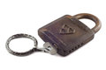 Free Old Padlock With Key Royalty Free Stock Image - 35037626