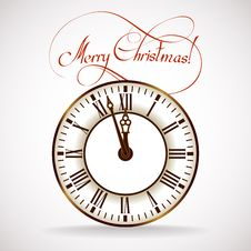 Free Christmas Time Clock Stock Images - 35034814