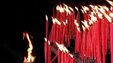 Free Ritual Candles Royalty Free Stock Photos - 35038278