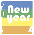 Free Funky New Year 2014 Stock Images - 35040734