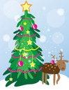 Free Christmas Tree Card Stock Image - 35044121