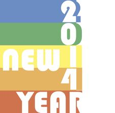 Free Funky New Year 2014 Stock Photo - 35040680