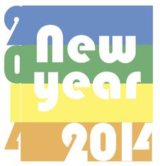 Free Funky New Year 2014 Stock Images - 35040694