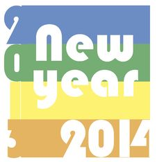 Free Funky New Year 2014 Royalty Free Stock Photos - 35040728