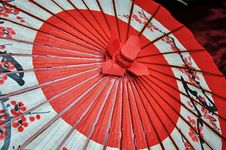 Free Red And Black Japanese Umbrella Stock Photography - 35041462