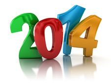 Free New Year 2014 &x28;clipping Path Included&x29; Royalty Free Stock Photo - 35041735