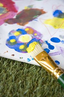 Free Painting On Paper Stock Images - 35042834