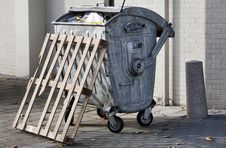 Free Wheeled Trash Container Stock Image - 35043441