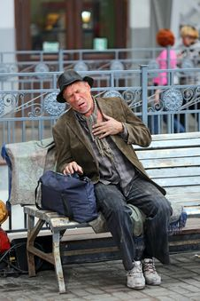 Free Homeless Man Stock Images - 35045904