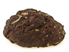 Dark Brownie Cookies Stock Photo