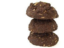 Dark Brownie Stack Stock Photo