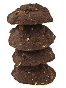 Free Dark Brownie Tower Stock Photography - 35046152