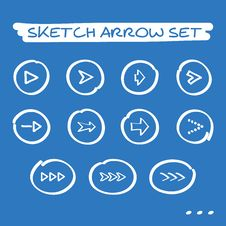 Free Sketch Arrow Set Royalty Free Stock Photography - 35046357