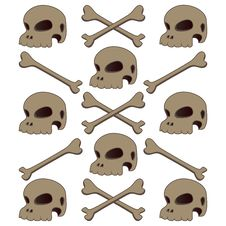 Free Skull Human And Bone Vintage Isolated Stock Photo - 35046480