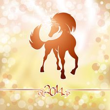 Free Yellow Horse The Symbol Of New Year Stock Photos - 35046823