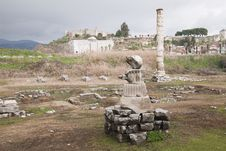 Free Ruins Of Artemision In Ephesus Royalty Free Stock Photography - 35047767
