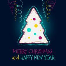 Christmas Tree Vector Background Royalty Free Stock Photo