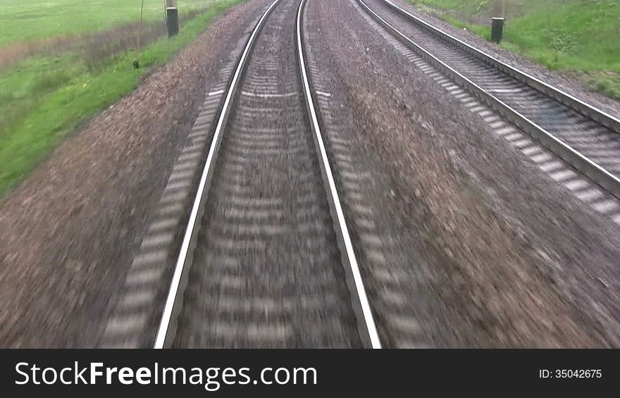 Railroad track. View from the last wagon