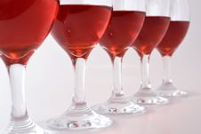 Free Glasses Of Red Wine Stock Photography - 35051572