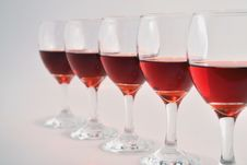 Free Glasses Of Red Wine Royalty Free Stock Image - 35051646