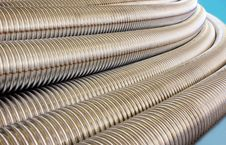 Free Metalic Corrugated Tubes. Royalty Free Stock Image - 35055266