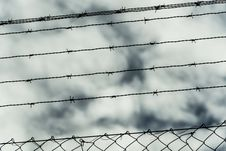 Free Wire Fence Stock Photo - 35056750