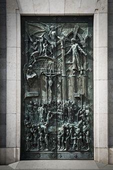 Free Almudena Cathedral Door Stock Photo - 35058620