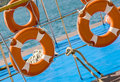 Free Lifebuos On Boat Stock Image - 35064231