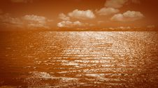 Orange Sea Stock Photography