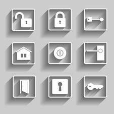 Free Home Icons Stock Photo - 35064840