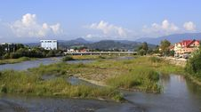 Free Mzymta River In Adler. Royalty Free Stock Photo - 35064975