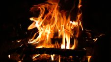 Free Blaze Burning Fire Royalty Free Stock Photo - 35065465