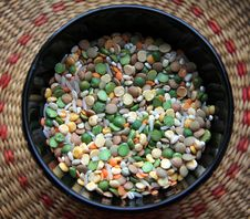 Free A Bowl Of Groats And Beans Royalty Free Stock Photos - 35066088